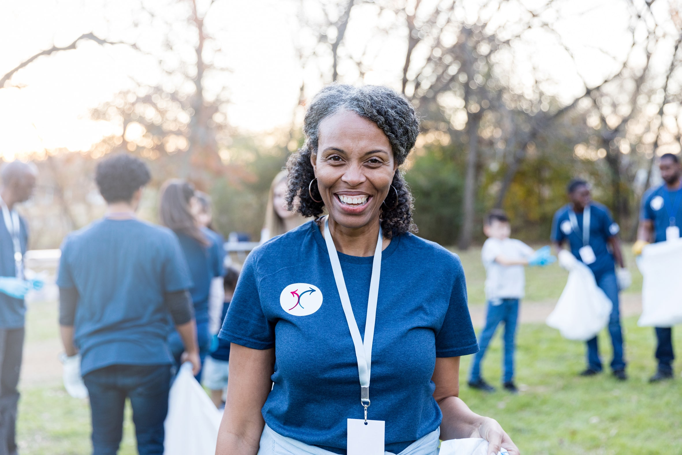 Confident woman participating in community event